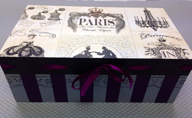 #caja de #madera pintada a mano