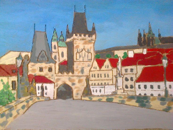 Z Karlova mostu Malostranská věž, Jirouš