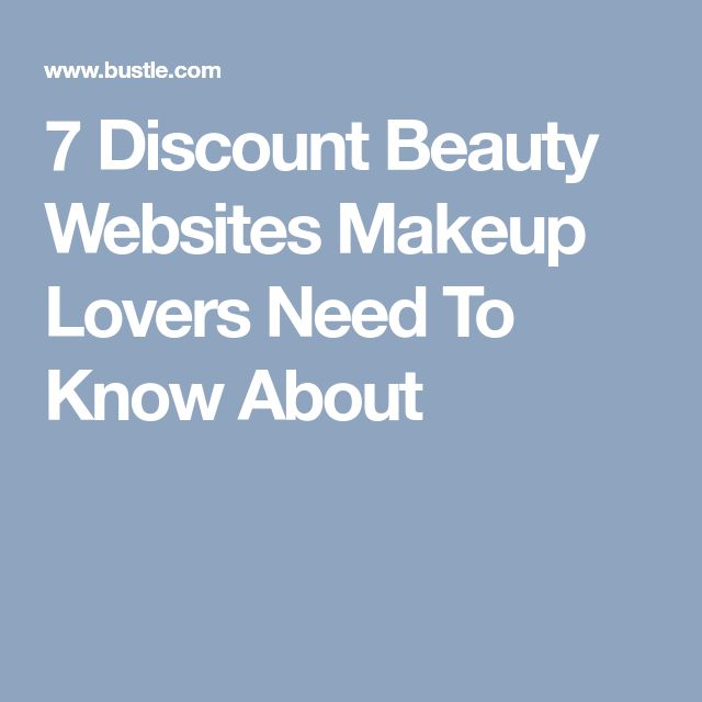 7 Discount Beauty Websites Makeup Lovers Need To Know About