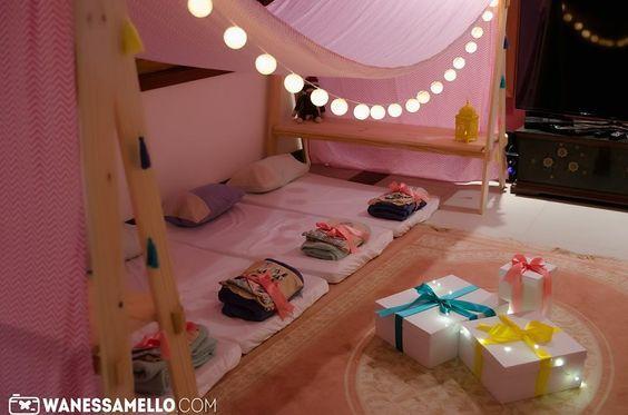 Cabana grande para festa do pijama