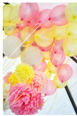 Pretty Pink and Yellow balloons