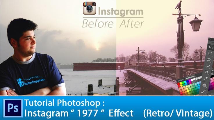 "Tutorial Photoshop: Instagram ""1977″  Original Effect :  LINK:  http://www.photoshoppista.com/tutorial-photoshop-instagram-1977-effect/"