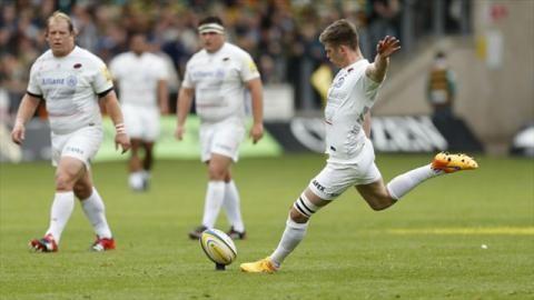 Premiership - Owen Farrell kicks Saracens into final