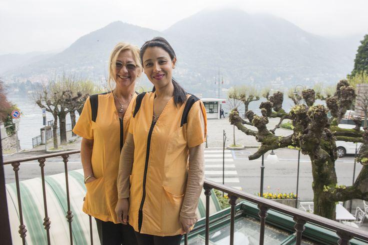Giovanna e Hlima sul terrazzo della camera 20 in posa per Voi  www.hotel-posta.it