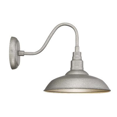 Features:  -Bulb not included.  -Steel coated: No.  Fixture Type: -Barn Light.  Fixture Material: -Metal.  Shade Material: -Metal.  Bulb Type: -LED/Compact Fluorescent (CFL)/Incandescent.  Bulb Wattag