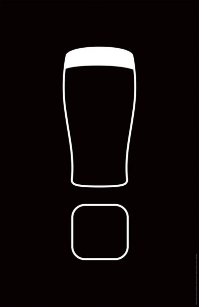BBDO NY - AD for Guinness, blending the contours of a typical Guinness glass with a powerful visual interjection repinned by www.BlickeDeeler.de