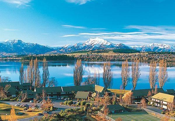 Edgewater Resort, right on the edge of Lake Wanaka, NZ