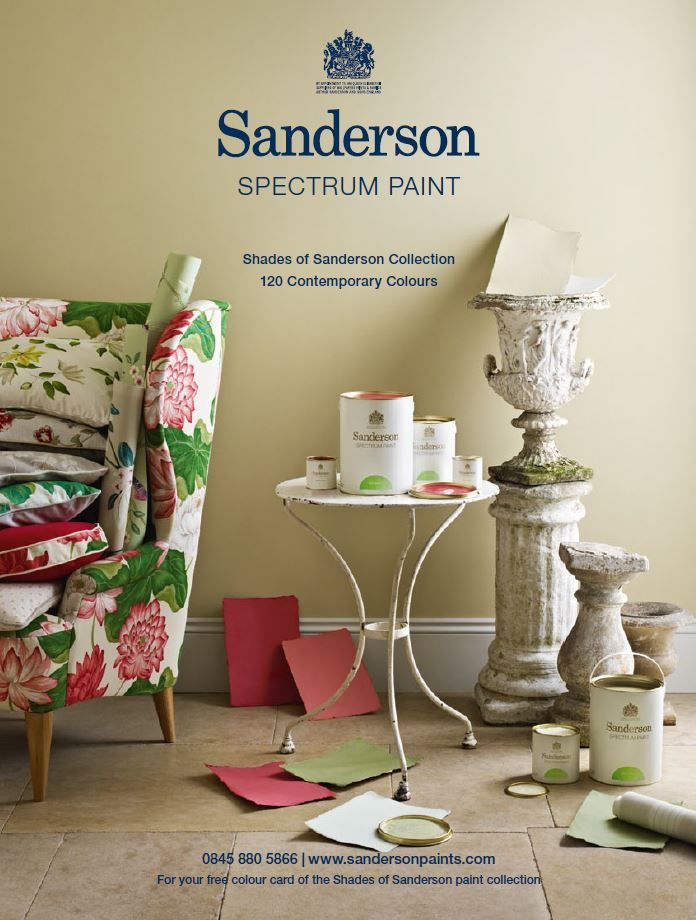 The Sanderson Design Studio Has Created Shades Of Collection A Colour Palette 140 Subtle Taken From Complete Spectrum