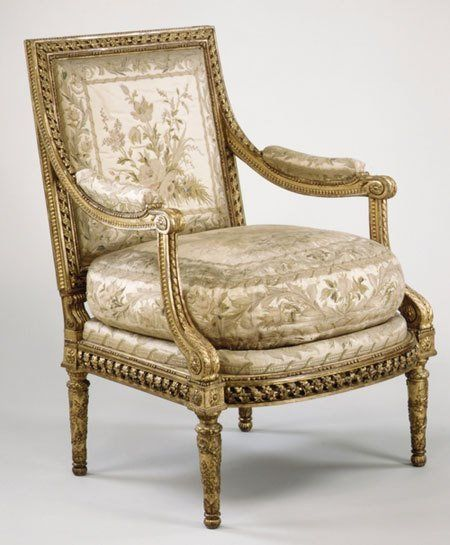 Antique Furniture ~ Chairs Glossary ~ Armchair (fauteuil)