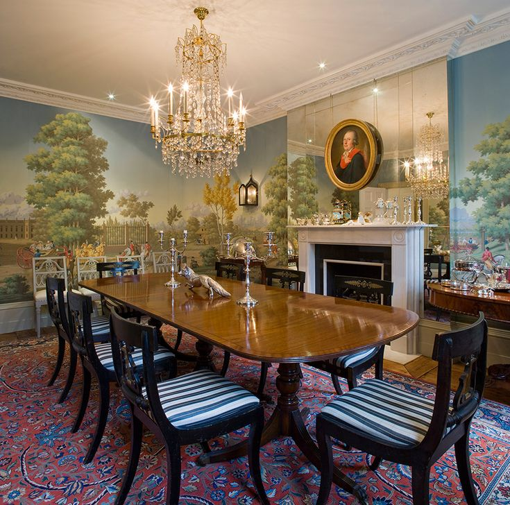 592 best images about dining rooms rugs on pinterest for Dining room mural wallpaper