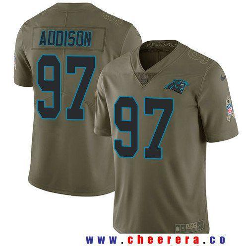 Men's Carolina Panthers #97 Mario Addison Olive 2017 Salute To ...
