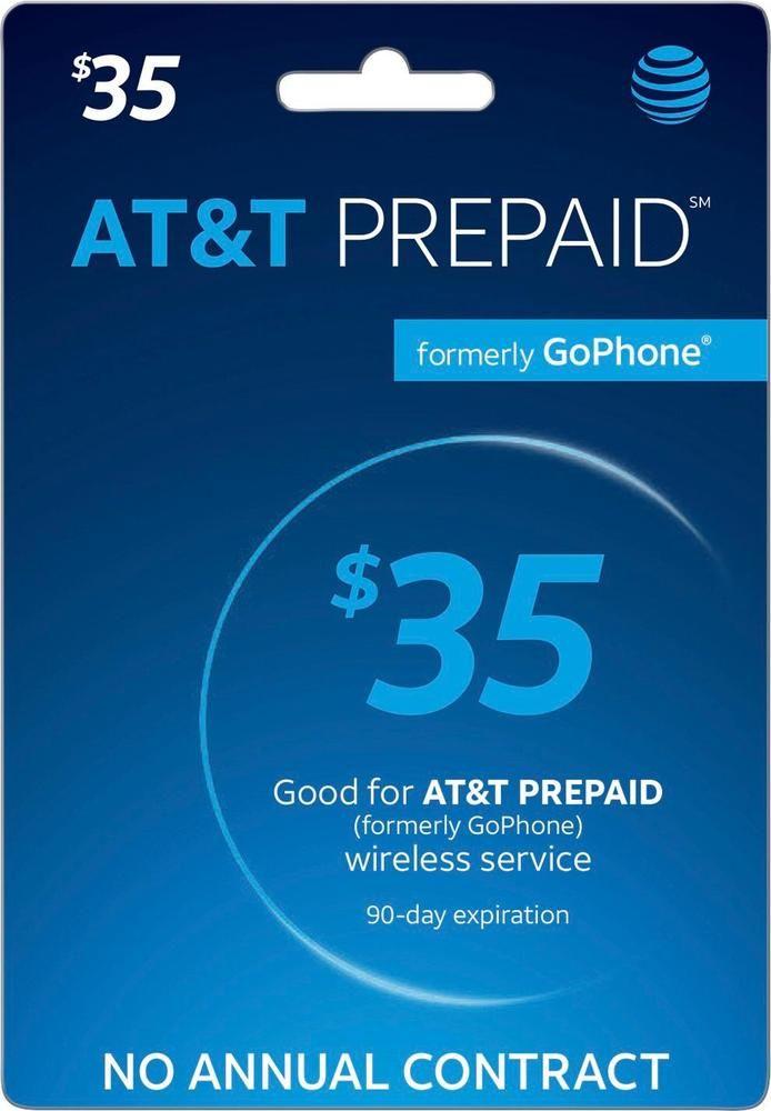 At&t - $35 Prepaid Phone Card
