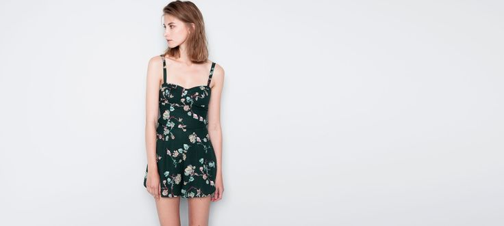 FLORAL-PRINT JUMPSUIT - DUNGAREES AND JUMPSUITS - WOMAN - PULL&BEAR Poland