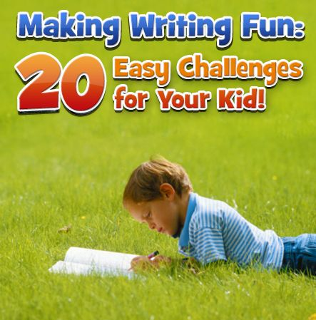 """Challenging Kids to write.  Fun writing prompts like, """"You look in your pocket and find a miniature unicorn. Describe it in forty-two words"""""""