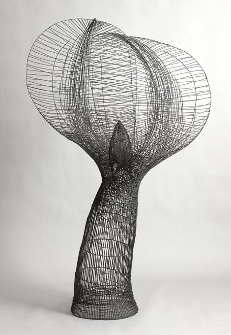 Glenn Murray | ' Embrace'  Reclaimed steel wire.