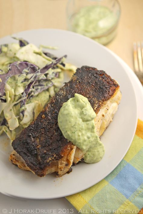Post image for Cajun blackened cod with creamy avocado dressing – and a NoMU giveaway [closed]