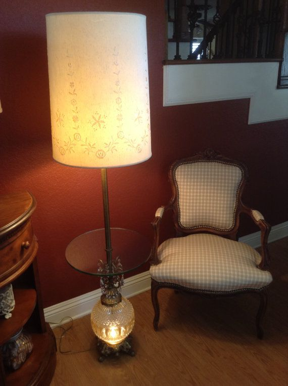 Perfect Hollywood Regency Glass Table Floor Lamp By CaliforniaFavorites