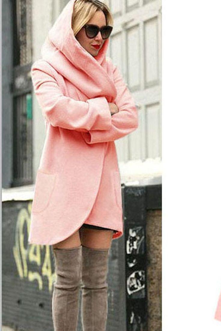 Autumn Long Sleeves Fashion Loose Wool Coat