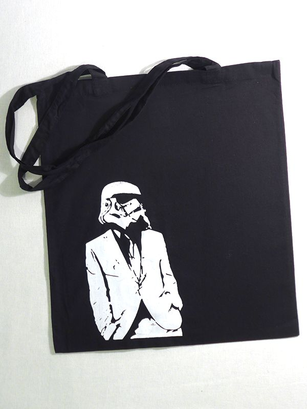 Suited Trooper Cotton Tote via Tribe of E. Click on the image to see more!