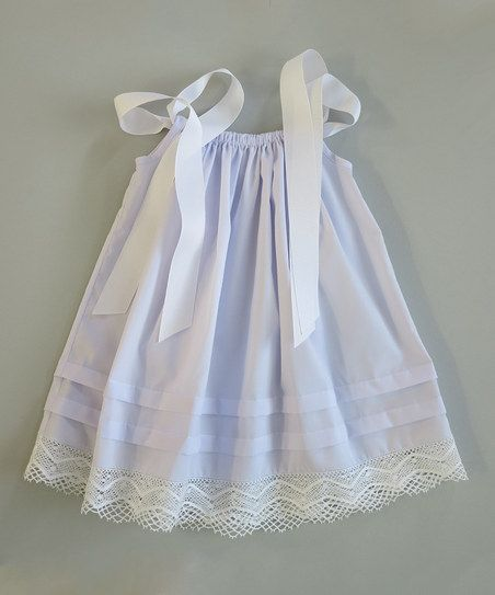 Lilac Lace Dress - I like the idea of a sweet little dress like this with lace at the bottom
