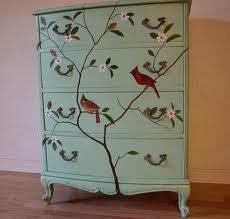 Painted chest   – homemade/DIY Craft ideas