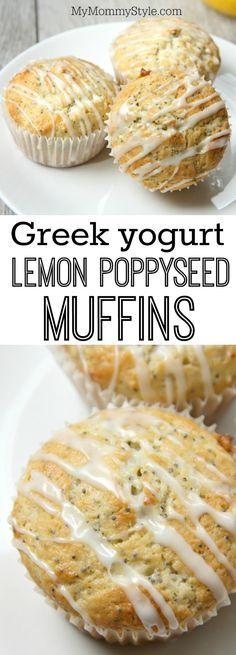 Poppyseed muffin, Greek yogurt and Lemon poppyseed muffins on ...