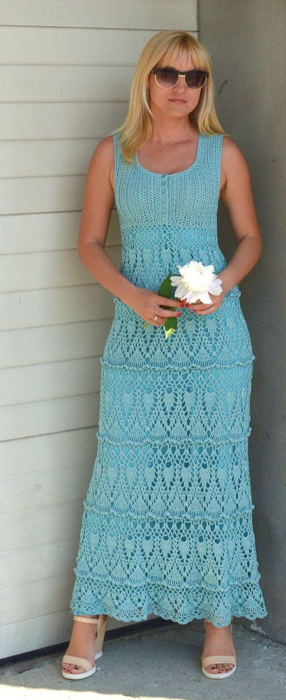 Crochet maxi dress summer cotton dresses bohemian dress womens summer wedding long dress hippie boho dress crochet long dress beach wedding  With
