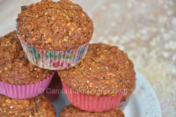 Carola bakt Zoethoudertjes: Morning glory muffins vetvrij