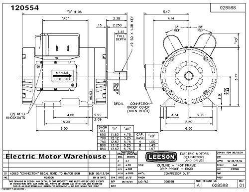 Leeson Electric Motor Wiring Diagram : 36 Wiring Diagram