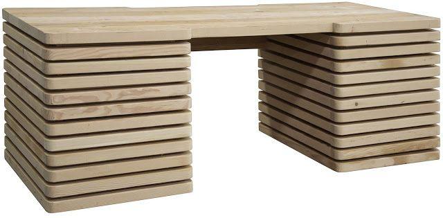дневник дизайнера: Оригинальный письменный стол из массива дерева Milo Desk