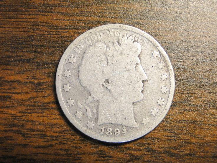 1894 Barber Half Dollar - Nice Old Coin! by EagleDen on Etsy