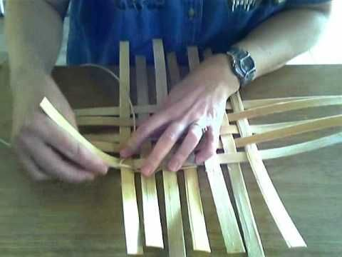 Basket Weaving Video #4 Twining--Twining a Keeper Row
