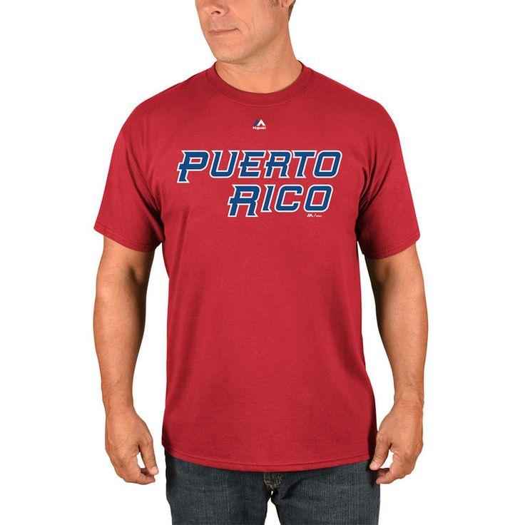 Puerto Rico Baseball Majestic 2017 World Baseball Classic Wordmark T-Shirt - Red