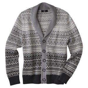 Mossimo Black® Men's Cardigan Sweater - Gray. Borrow from the men's section...