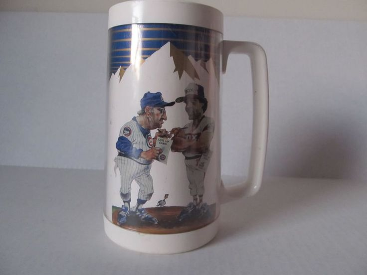 Chicago Cubs/Sox Busch Crosstown Classic Wrigley Field May 19, 1986 Plastic Mug