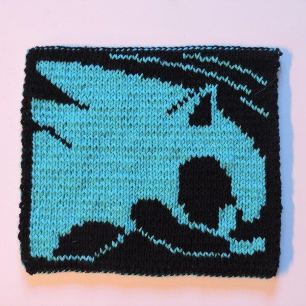 2016 Geek-A-Long: week 4 Sonic the Hedgehog | Sonic knitting pattern with color chart; double-sided knitting, video games