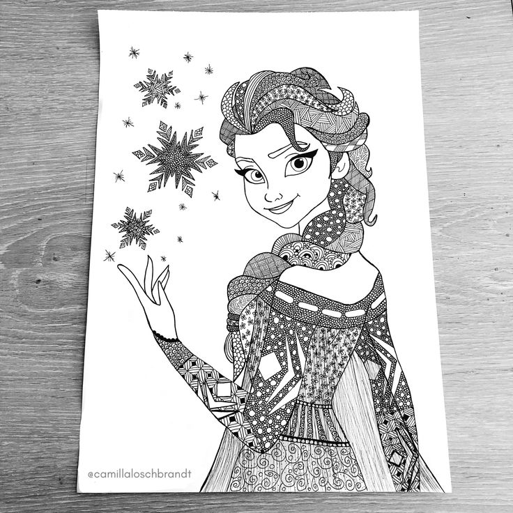 Elsa frost - zentangle