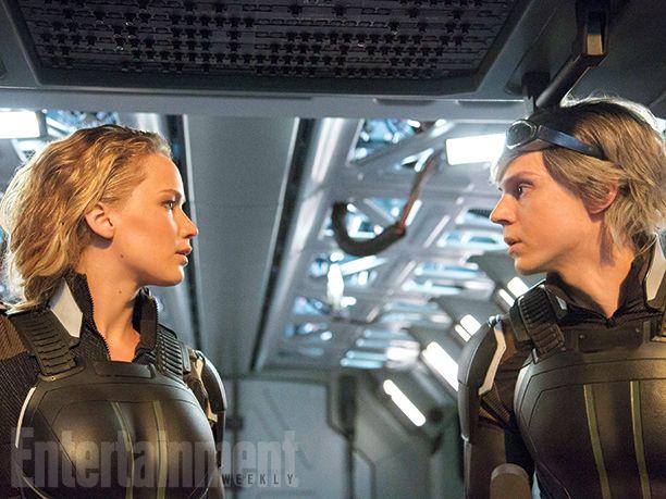 'X-Men: Apocalypse': Raven/Mystique (Jennifer Lawrence) and Peter/Quicksilver (Evan Peters)