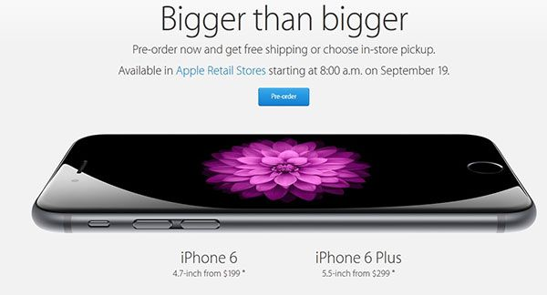 iPhone 6 preorder in US now starting at Apple Online Store