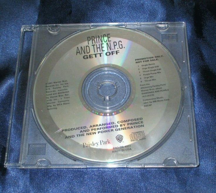 PRINCE GETT OFF Promo Maxi Cd Single original 1991 pro-cd-4977 Warner Brothers