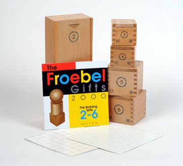 Froebel Blocks: Gifts 2-6 ages 3+. Josef Albers, Charles Eames, Buckminster Fuller, Johannes Itten, Paul Klee, and Frank Lloyd Wright are famous examples of children educated with the Froebel materials. The stone version of Froebel Blocks made in Germany by the Anker Steinbaukasten GmbH factory (founded by Adolf Richter, a wealthy businessman in Froebel's village of Rudolstadt) were a favorite toy of Albert Einstein.