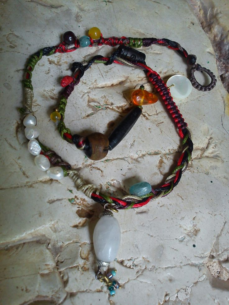 Zen necklace 3-1 by MacrameMirtiaDesigns on Etsy