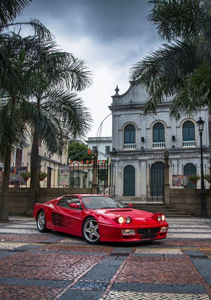 Fire Red Ferrari Testarossa #Ferrari #Testarossa #Italian_Stallion