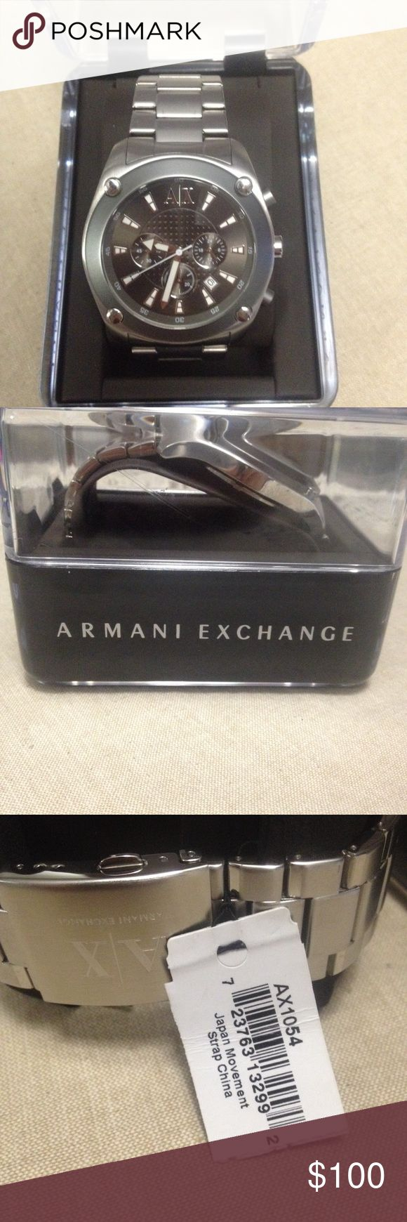 Armani exchange men's watch Armani exchange stainless steal men's watch brand new with box never worn A/X Armani Exchange Accessories Watches