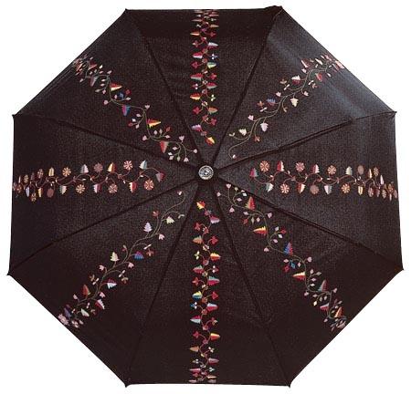 Sort paraply til Åmlibunad.