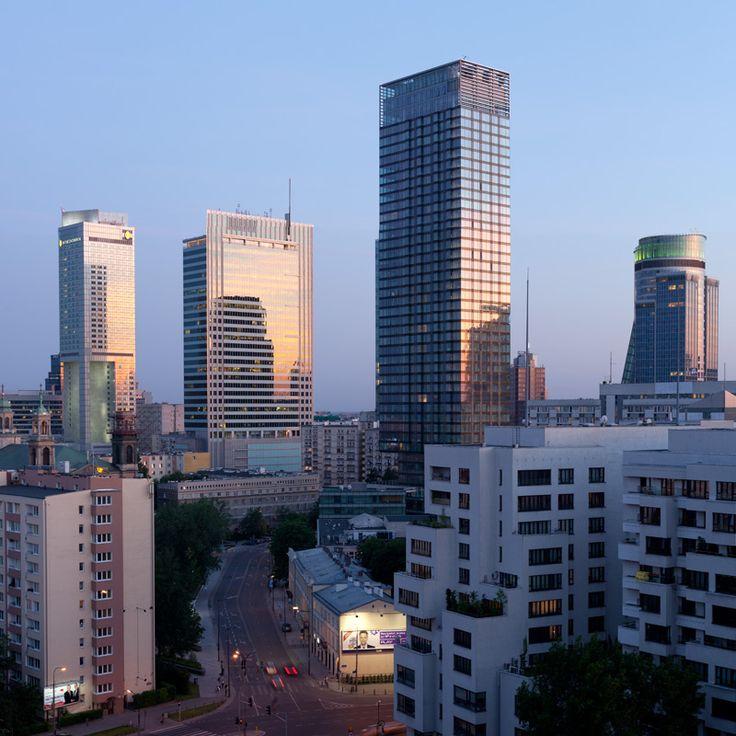 Skyline in Warsaw - Intercontinental Hotel, Rondo One by SOM, Cosmopolitan, TPSA Tower   Poland © Piotr Krajewski pkrajewski.pl