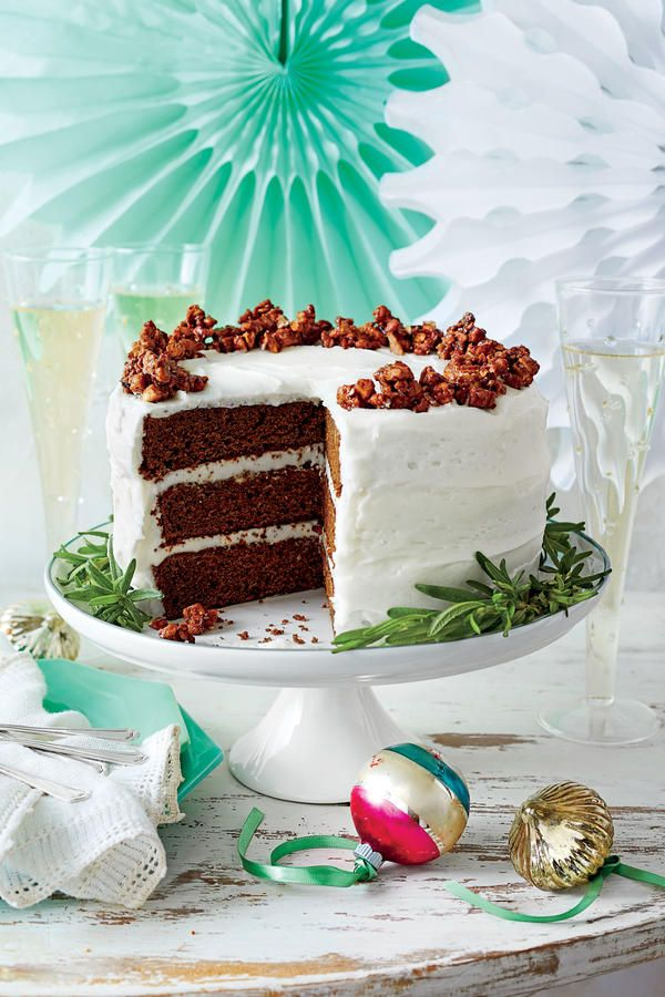 Showstopping Christmas Cake Recipes: Gingerbread Cake with Buttermilk Frosting