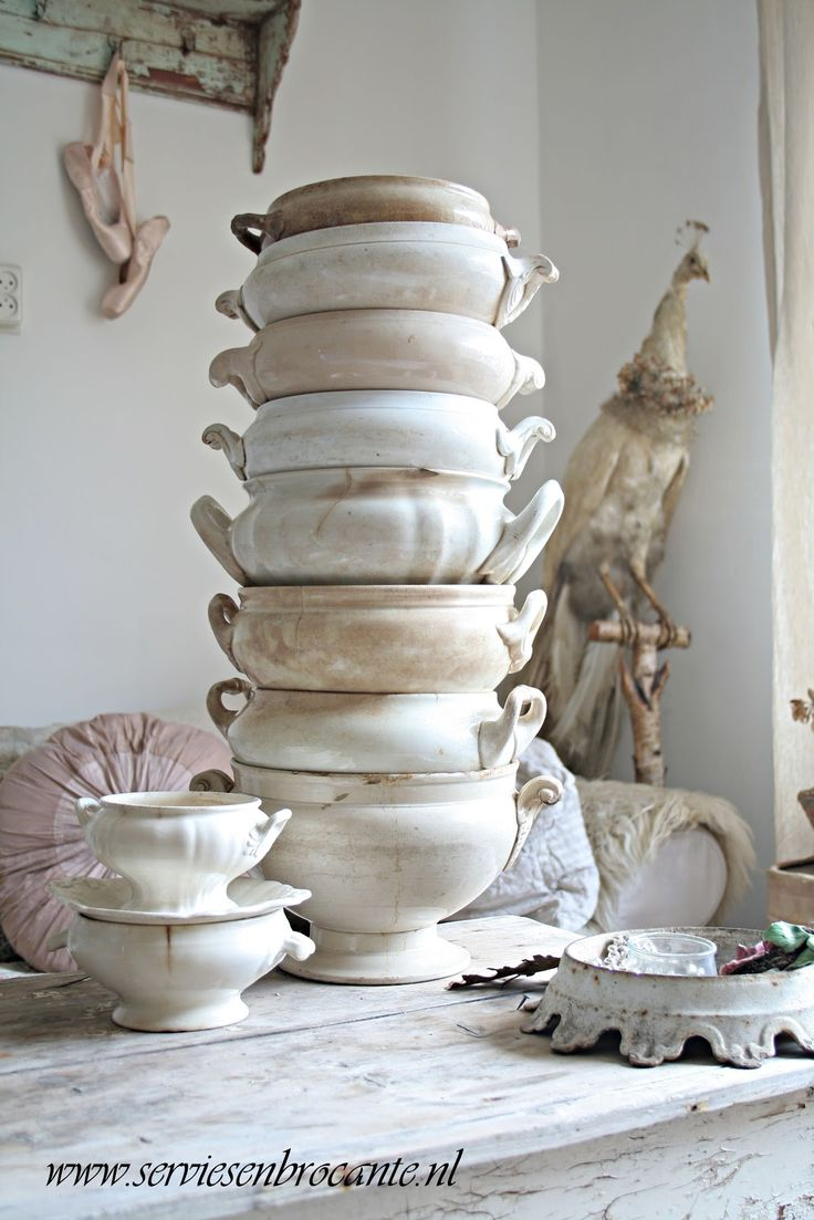 beautiful white vintage tureens - I am collecting these at the moment, would LOVE to get my hands on some like this x