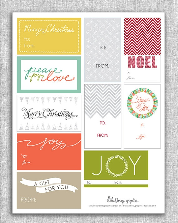 10 printable Christmas Gift Tags