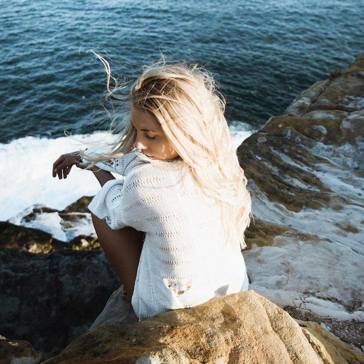 Cold stone mermaid @kristylee_dawn wearing our mermaid knit.  Shot by @rowanchestnut